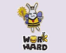 WORD HARD- Embroidered Sticker Pack