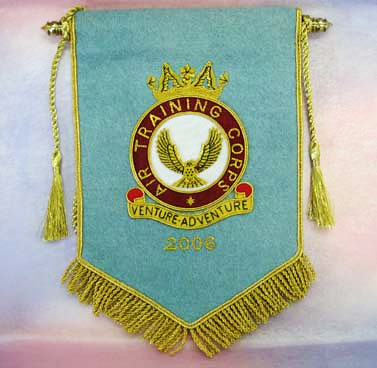 Bullion Wire Embroidered Pennant