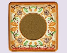 Floral Embroidered Coaster