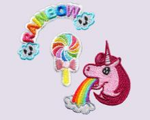 Rainbow Unicorn - Embroidery Sticker Pack