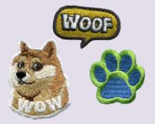 Doge-Embroidered Sticker Pack