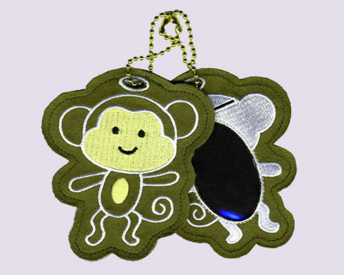 Monkey Embroidered Luggage Tag
