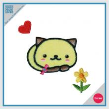 Embroidery with Rhinestone Sticker Set - Heart Cat Flower