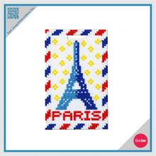 Mosaic Embroidery Luggage Tag- Paris