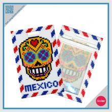 Mosaic Embroidery Luggage Tag- Mexico