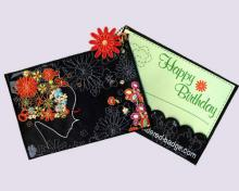 Greeting Embroidered Card